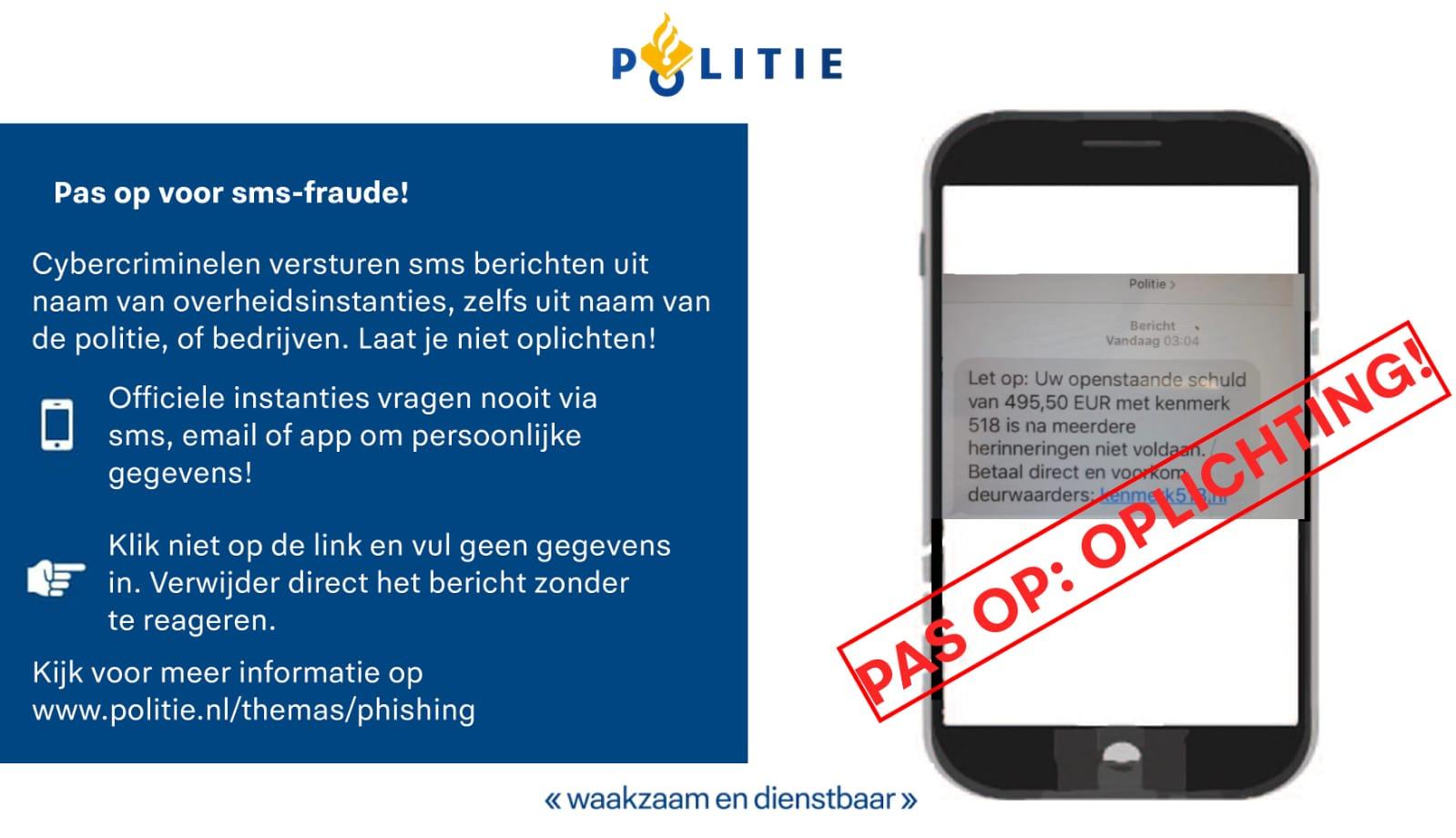 Nog steeds veel meldingen van Whatsapp en sms-fraude
